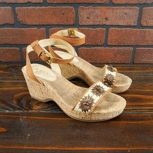 LAUREN RALPH LAUREN Odelia Cork Wedge Sandals 7.5